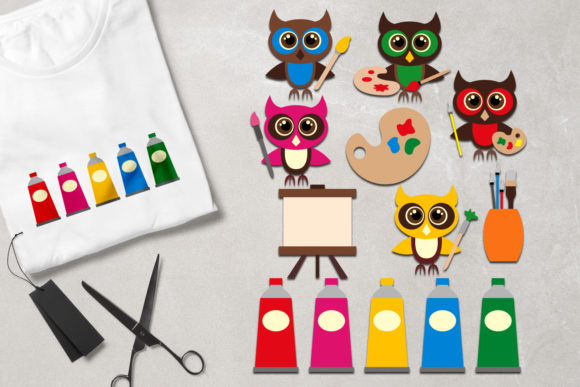 Print on Demand: Owl Painting Graphic Illustrations By Revidevi