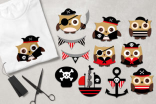 Download Free Owl Pirate Graphic By Revidevi Creative Fabrica for Cricut Explore, Silhouette and other cutting machines.