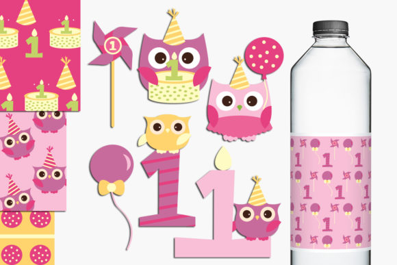 Owl First Birthday Graphic By Revidevi Image 1