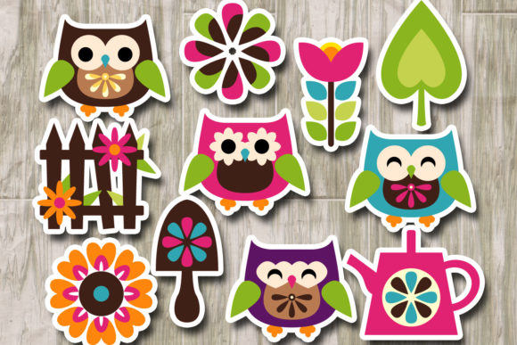 Print on Demand: Owl Spring Garden Graphic Illustrations By Revidevi - Image 2