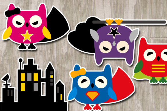 Owl Superhero Graphic By Revidevi Image 2