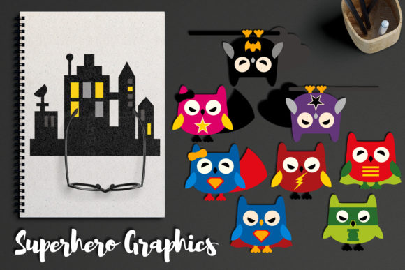 Owl Superhero Graphic By Revidevi Image 1
