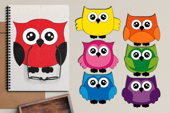 Print on Demand: Owls Graphic Illustrations By Revidevi