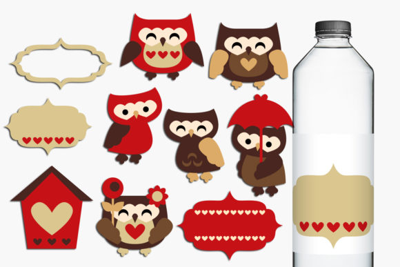 Print on Demand: Owls in Love Graphic Illustrations By Revidevi - Image 1