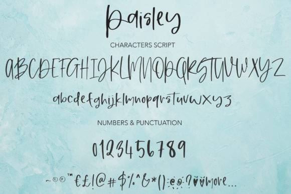 Paisley Font Popular Design