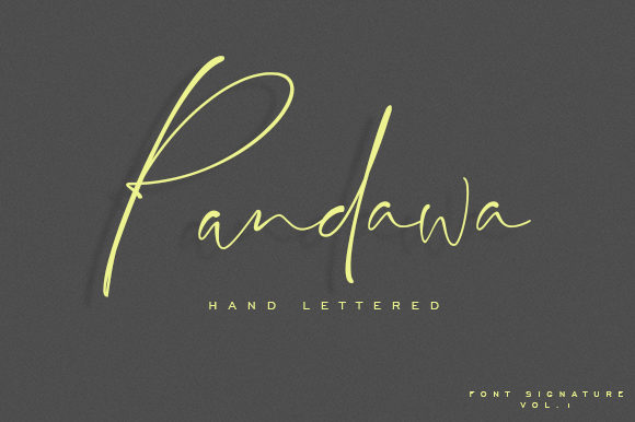 Print on Demand: Pandawa Script & Handwritten Font By dataibayt