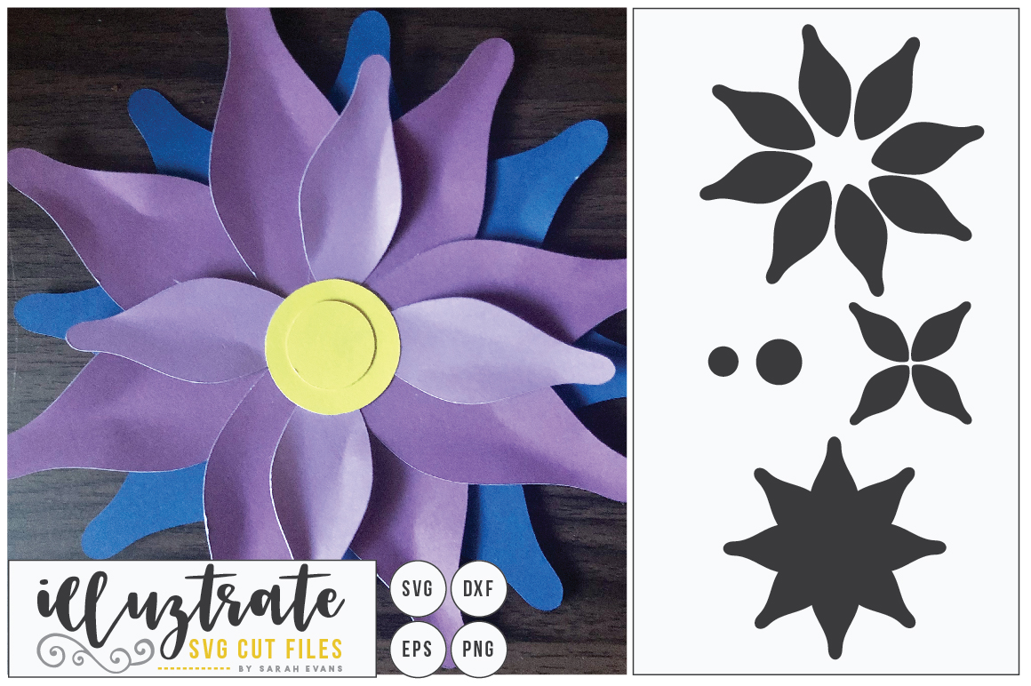 Download Free Paper Cut Flower 1 Graphic By Illuztrate Creative Fabrica for Cricut Explore, Silhouette and other cutting machines.