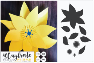 Print on Demand: Paper Cut Flower Graphic 3D Flowers By illuztrate