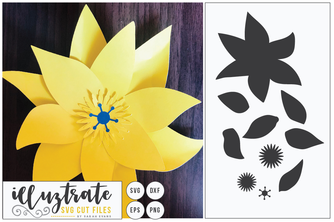 Download Free Paper Cut Flower Flower Svg Cut File Graphic By Illuztrate Creative Fabrica for Cricut Explore, Silhouette and other cutting machines.