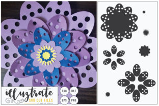 Download Free Paper Cut Flower Graphic By Illuztrate Creative Fabrica for Cricut Explore, Silhouette and other cutting machines.