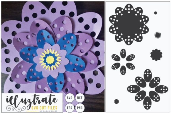 Print on Demand: Paper Cut Flower - Flower SVG Cut File Graphic Crafts By illuztrate - Image 1