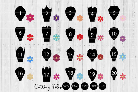 Print on Demand: Paper Flowers Templates Bundle 1 to 20 | Graphic Crafts By HD Art Workshop