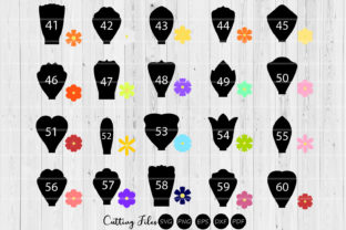 Download Free Paper Flowers Templates Bundle 41 To 60 Graphic By Hd Art for Cricut Explore, Silhouette and other cutting machines.