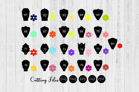 Print on Demand: Paper Flowers Templates Bundle 61 to 81 Graphic Crafts By HD Art Workshop