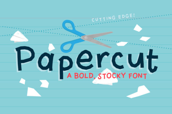 Print on Demand: Papercut Display Font By Reg Silva Art Shop