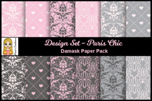 Paris Chic - Damask Paper Pack Graphic By Aisne