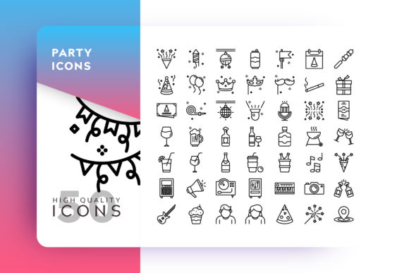 Print on Demand: Party Icon Graphic Icons By Goodware.Std