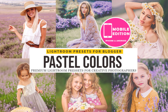 Pastel Lightroom Presets Mobile Graphic Actions & Presets By Presetsh