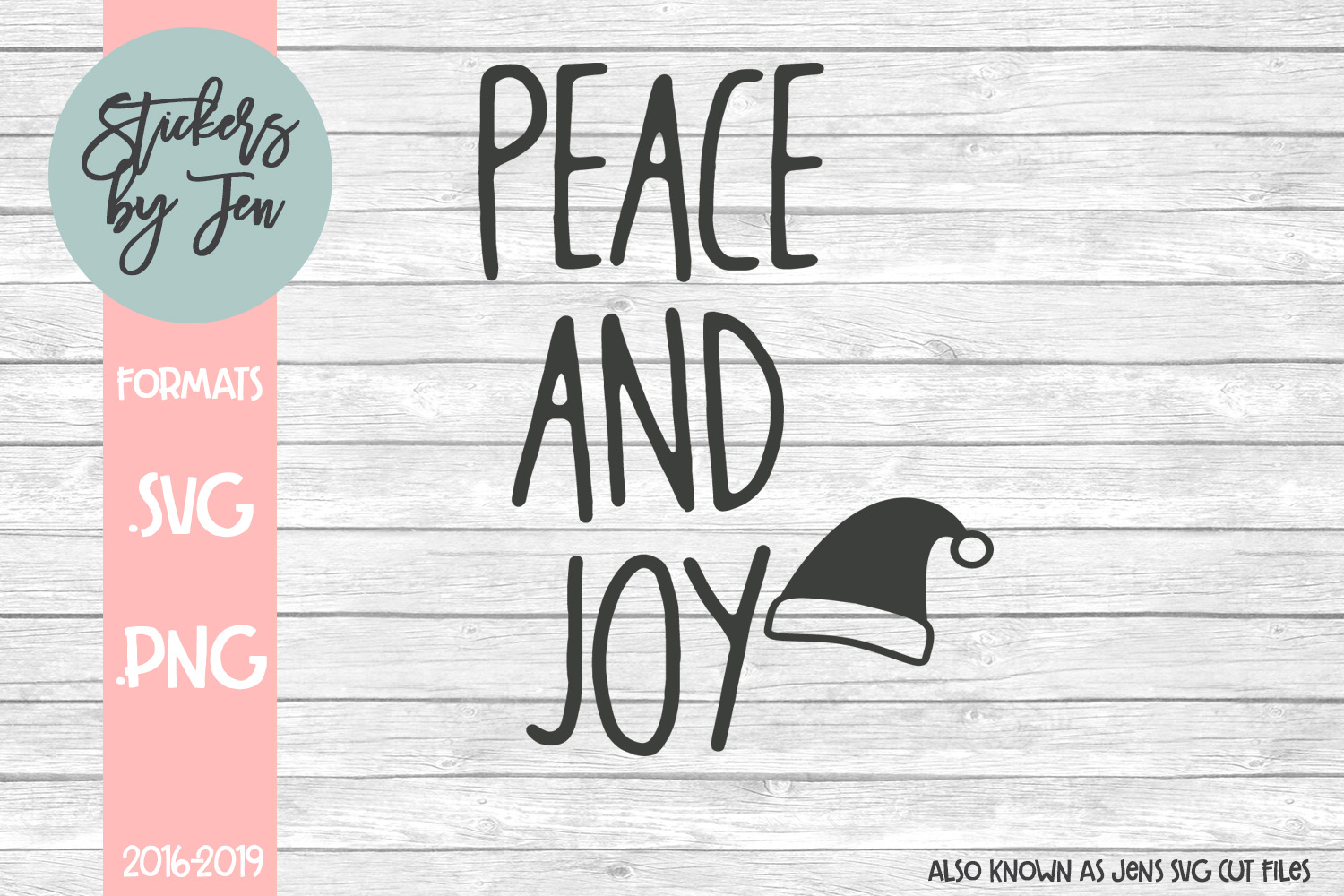 Download Free Peace And Joy Svg Graphic By Stickers By Jennifer Creative Fabrica for Cricut Explore, Silhouette and other cutting machines.