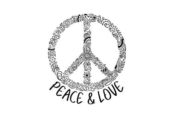 Peace Sign - Symbol Designs & Drawings Craft Cut File By Creative Fabrica Crafts - Image 1
