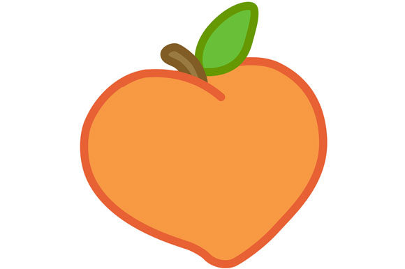 Print on Demand: Peach Vector,  PNG Graphic Illustrations By Milaski