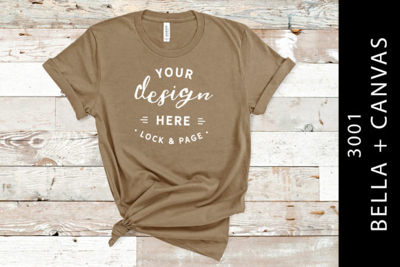 Pebble Brown Bella Canvas 3001 Mockup Graphic Product Mockups By lockandpage