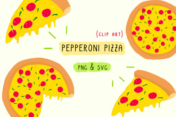 Print on Demand: Pepperoni Pizza SVG PNG Graphic Icons By Inkclouddesign