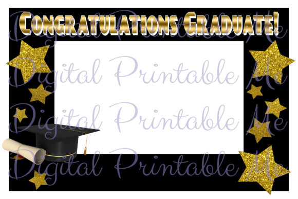 Print on Demand: Photo Booth Frame Graduation Decoration Graphic Crafts By DigitalPrintableMe
