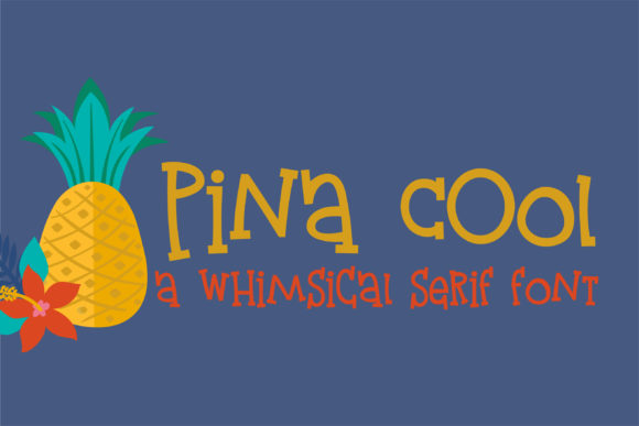 Print on Demand: Pina Cool Serif Font By Illustration Ink