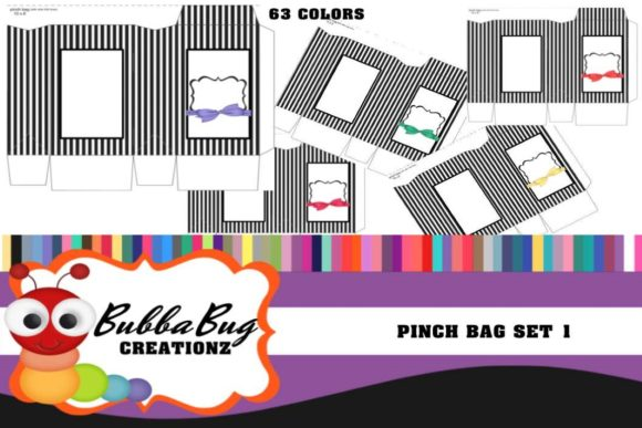 Pinch Bag Set 1 Graphic Crafts By BUBBABUG