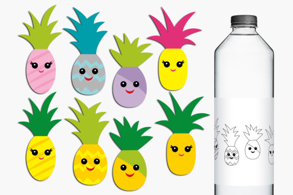 Print on Demand: Pineapple Happy Face Graphic Illustrations By Revidevi