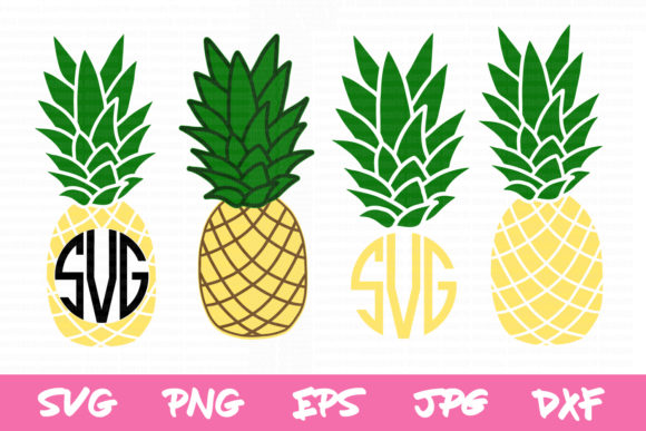 Pineapple Monogram Svg, Pineapple Svg Graphic Crafts By thejaemarie