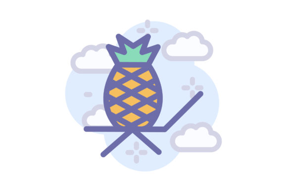 Download Free Pineapple Graphic By Wirawizinda097 Creative Fabrica for Cricut Explore, Silhouette and other cutting machines.