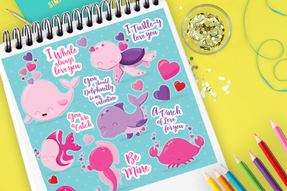 Print on Demand: Pink Sea Animals Graphic Illustrations By Prettygrafik