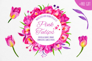 Print on Demand: Pink Tulips Graphic Illustrations By annamagenta