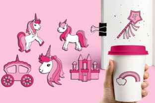 Pink Unicorn Party Graphic By Revidevi
