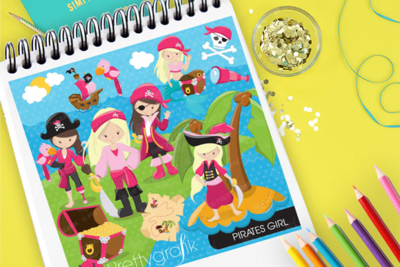 Print on Demand: Pirates Girl Graphic Illustrations By Prettygrafik