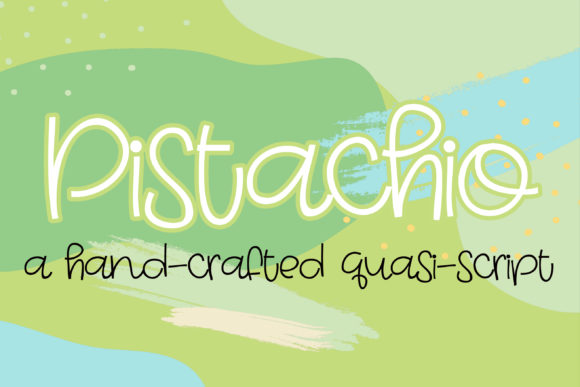 Pistachio Font By Illustration Ink Image 1