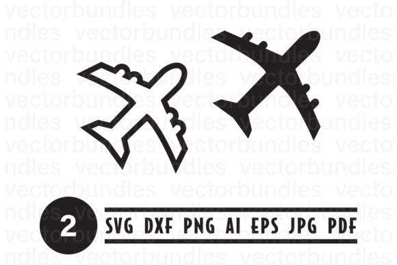 Download Free Plane Clip Art Svg Graphic By Vectorbundles Creative Fabrica for Cricut Explore, Silhouette and other cutting machines.