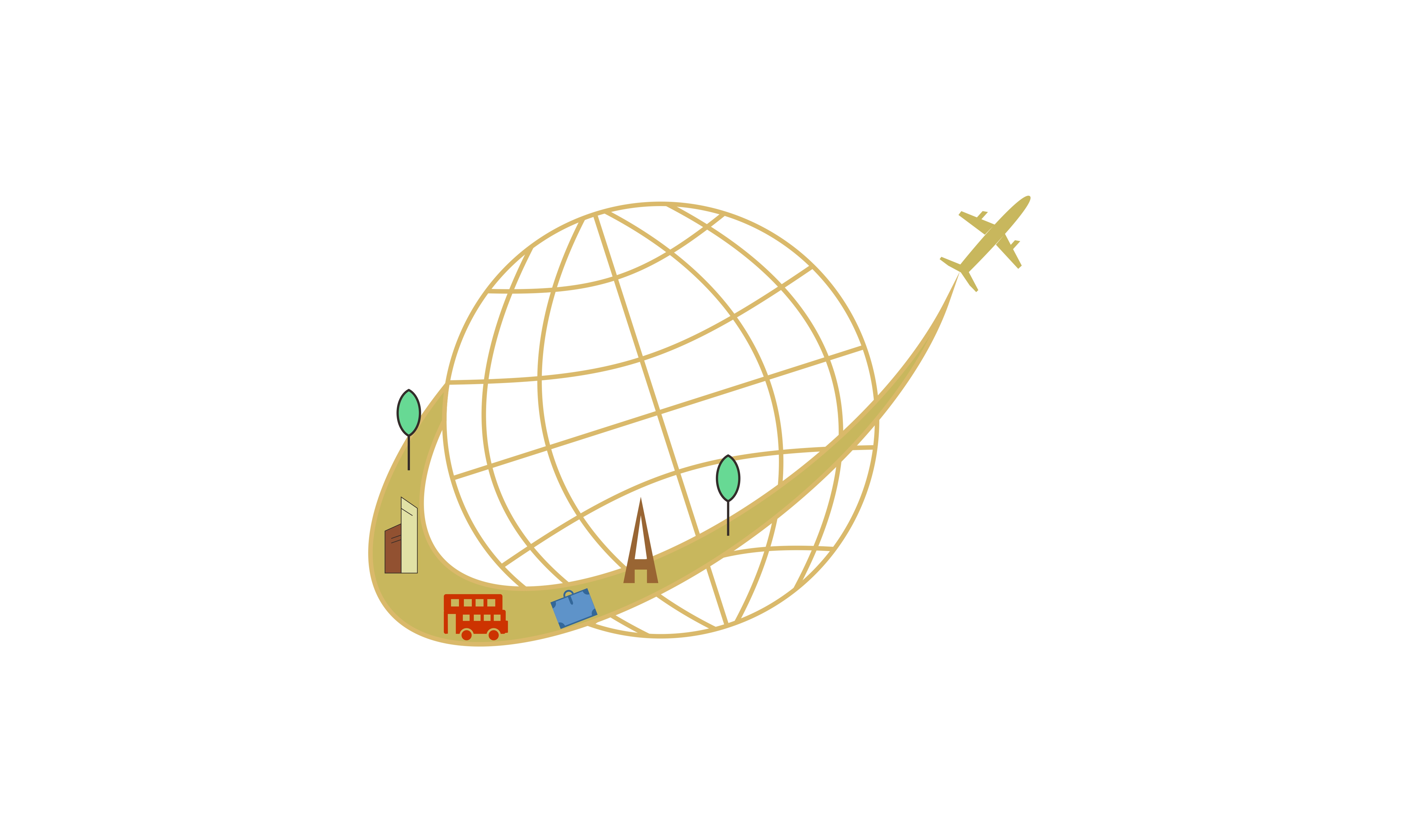 Download Free Plane Travel Vacation Logo Vector Graphic By 2qnah Creative for Cricut Explore, Silhouette and other cutting machines.