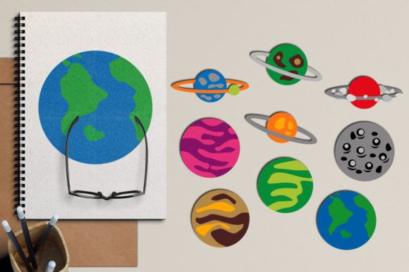 Print on Demand: Planets Graphic Illustrations By Revidevi