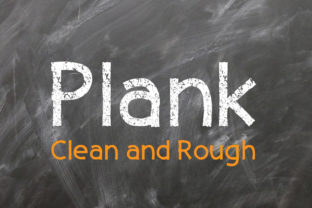 Plank Font By da_only_aan