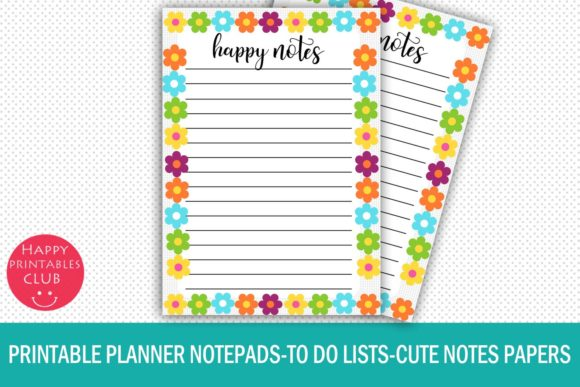 Print on Demand: Planner Notepads-to Do Lists-Tasks Graphic Crafts By Happy Printables Club