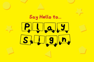 Play Sign Font By GraphicsBam Fonts