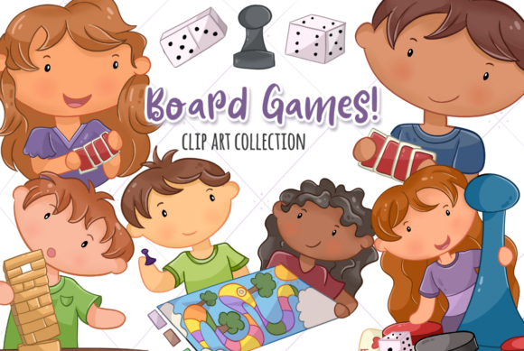 Print on Demand: Playing Board Games Grafik Illustrationen von Keepinitkawaiidesign