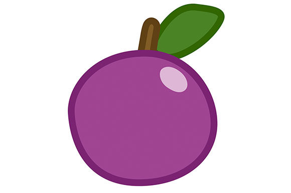 Print on Demand: Plum Clipart - Vector EPS, PNG and JPG Graphic Illustrations By Milaski