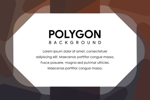 Polygon Horizontal Banner Brown Grey Graphic By noory.shopper
