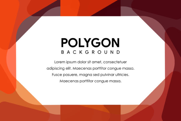 Polygon Horizontal Banner  Dark Red Graphic By noory.shopper