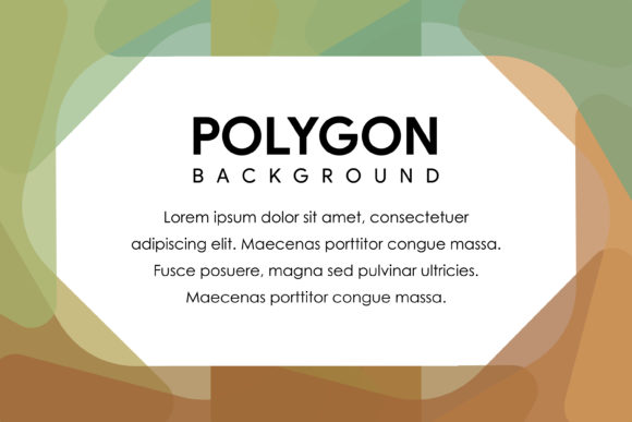 Polygon Horizontal Banner Green Brown Graphic By noory.shopper