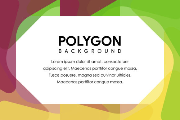 Polygon Horizontal Banner Purple Green Graphic By noory.shopper